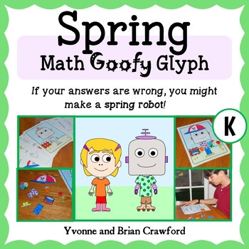 Spring Math Goofy Glyph (Kindergarten Common Core)