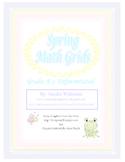 Spring Math Grids  Grades K-2