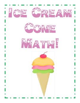 Spring Math Ice Cream Cone
