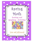 Spring Math- Jellybean Sorting, Graphing, Addition Activities