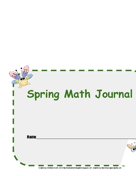 Spring Math Journal