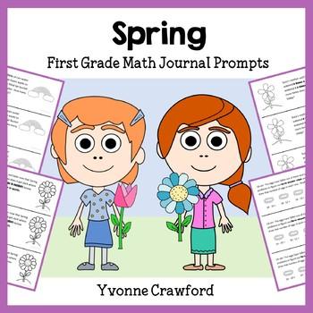 Spring Math Journal Prompts (1st grade)