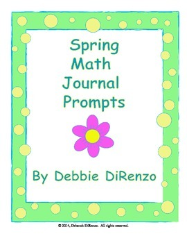 Spring Math Journal Prompts - Common Core Aligned