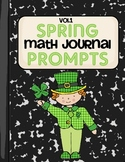 Spring Math Journal Prompts- Vol.1