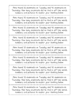 Spring Math Journal Prompts- Vol.1