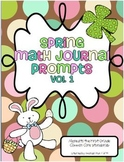 Spring Math Journal Prompts for First Grade (Vol. 1)