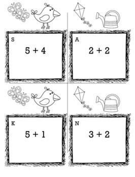 Spring Math Kindergarten Scavenger Hunt Game Bundle