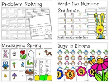 SPRING Literacy, Math, Science and More BUNDLE