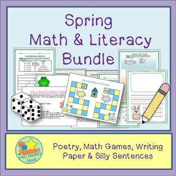 Spring Activities Math and Literacy Bundle