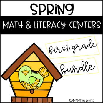 Spring Math & Literacy Centers (Bundle)