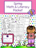 Spring Math & Literacy Packet