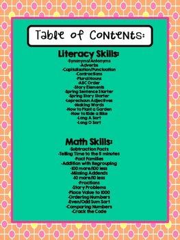 Spring Math & Literacy Print & Go {2nd Grade CCSS}