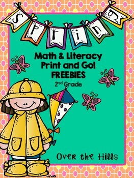 Spring Math & Literacy Print & Go Freebies {2nd Grade CCSS}