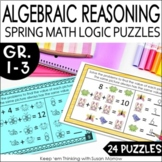 Solve For The Unknown Math Logic Puzzles: Missing Addends Algebraic Reasoning