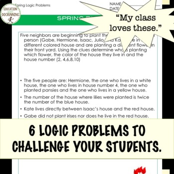 Logic Puzzles for Spring UPDATED