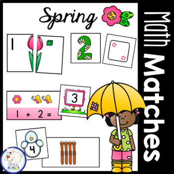 Spring Math Matches: Numbers 1-20