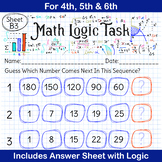 Spring Math | Math Logic Puzzle | Number Series Quiz for 4th, 5th & 6th
