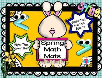 Spring Math Mats- Greater Than, Less Than, Equal To