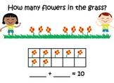 Spring Math Mats ~ Making 5 ~ Making 10 ~ Addition ~ Subtr