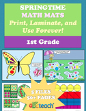 Spring Math Mats for 1st Grade Common Core