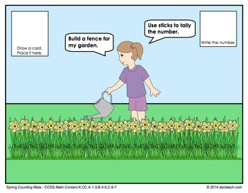 Spring Math Mats for Kindergarten - Grade Common Core