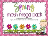 Spring Math Mega Pack (Spring Themed Math Centers for First Grade)