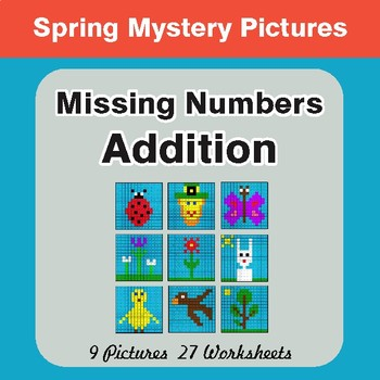 Spring Addition Color By Number Teaching Resources | Teachers Pay ...