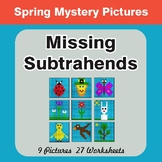 Spring Math: Missing Subtrahends - Color-By-Number Mystery