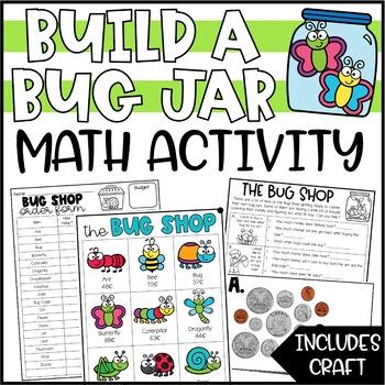 Spring Math Money Activity - Build a Bug Jar
