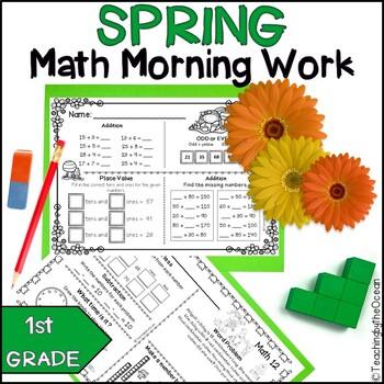Spring First Grade Math Morning Work