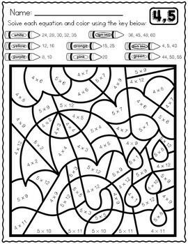 Spring Math Multiplication Worksheets | Multiplication ...
