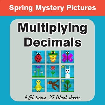 Spring Math: Multiplying Decimals - Math Mystery Pictures