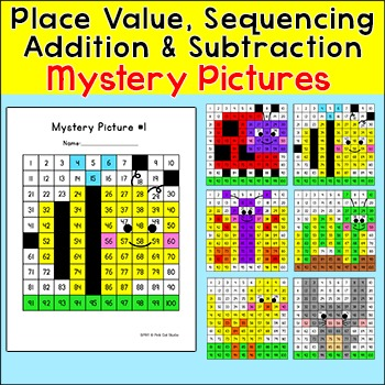 Hundreds Chart Mystery Pictures: Place Value, Addition and