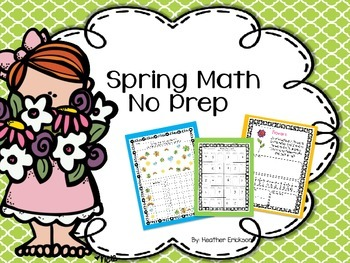 Spring Math {No Prep}