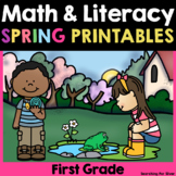Spring Math & Literacy Printables {1st Grade} PDF & Digita