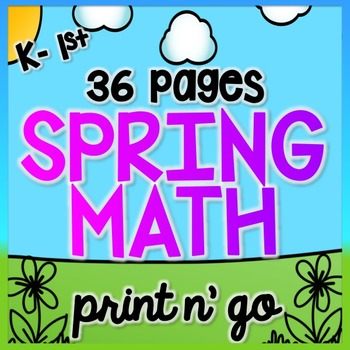 Spring Math for K & 1 {Number Sense, Place Value, Adding/Subtracting}