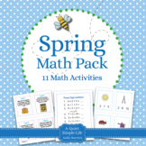 Spring Math for Kindergarten and First Grade