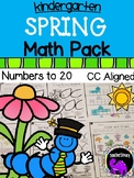 Spring Math Pack For Kindergarten - Numbers to 20
