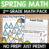 Spring Math Pack: No Prep Printable Worksheets/Activities for 2nd Grade