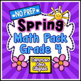Spring No Prep Math - 4th Grade