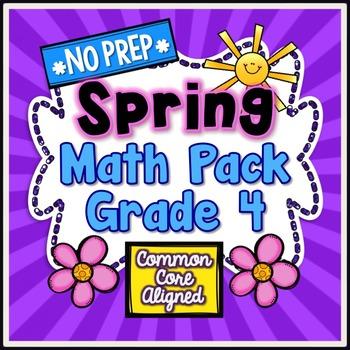 Spring No Prep Math - 4th Grade