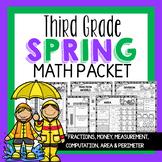Spring Math Worksheets Packet