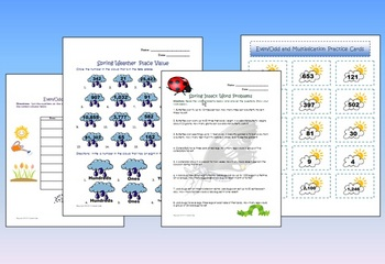 Spring Math Packet for Centers and Stations