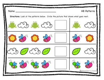 TEACHER APPRECIATION FREEBIE- Spring Math Patterns