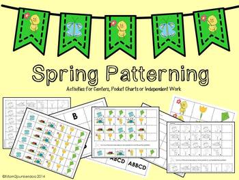 Spring Math Patterning Activities