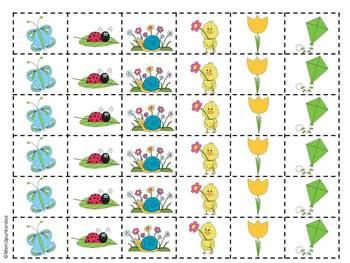 Spring Math Patterning Activities
