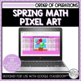 Spring Math Pixel Art | Order of Operations with Fractions