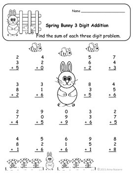 Spring Math Practice Pages