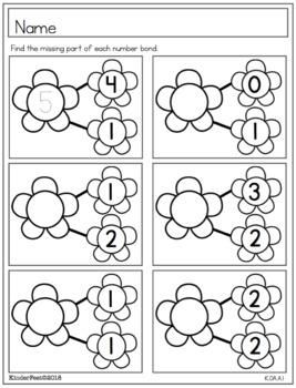 Spring Math Practice Sheets for Kindergarten