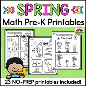 Spring Math Preschool Printables
